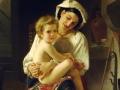 flikie.com William-Adolphe Bouguereau Young -  Anya és gyermeke