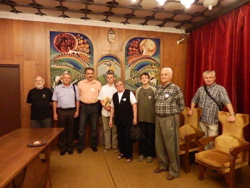 A program résztvevői balról-jobbra: Lengyák István, Kiss Zoltán, Görcz Gyula Csaba, Trajbár Balázs, Kőszegfalviné Pajor Klára, Simon Ádám, Neu Aladár, Budavölgyi Kálmán