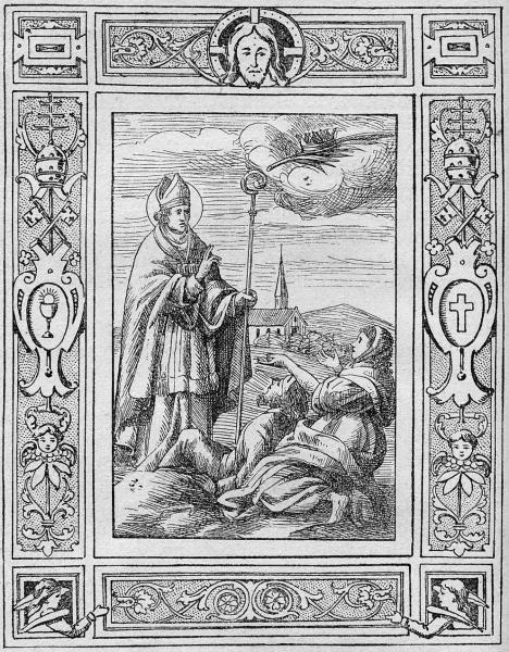 Szent Bálint epilepsziát gyógyít (forrás: nyest.hu)
