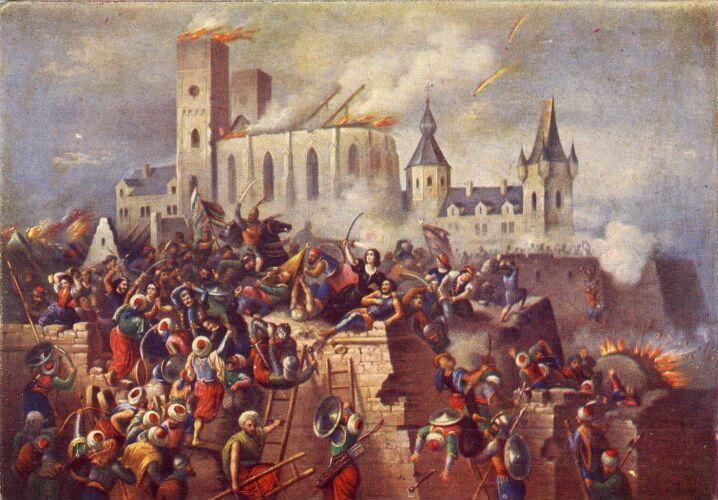 Vízkelety Béla: Eger vár ostroma 1552-ben (forrás: wikipedia.org)