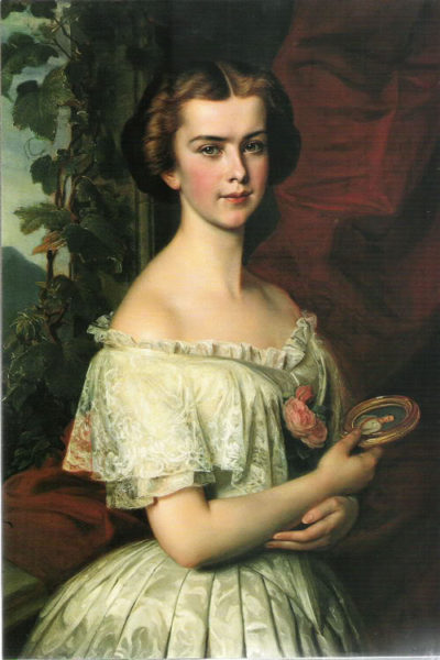 A menyasszony leendő hitvese arcképével (Forrás: forum.alexanderpalace.org)