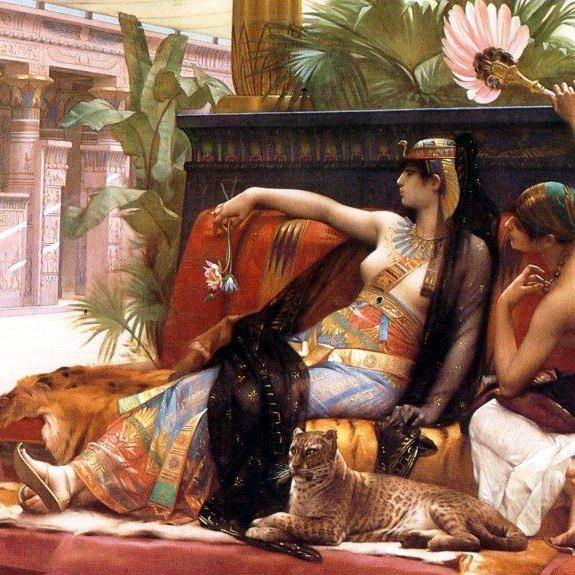 Kleopátra (Forrás: ipaintingsforsale.com)