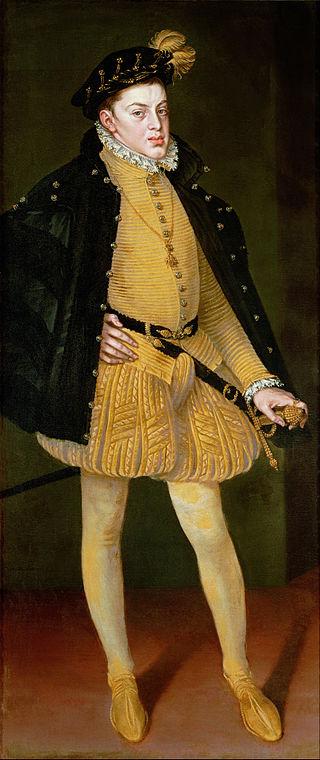 Alonso Sánchez Coello festménye Don Carlosról (Forrás: Internet)