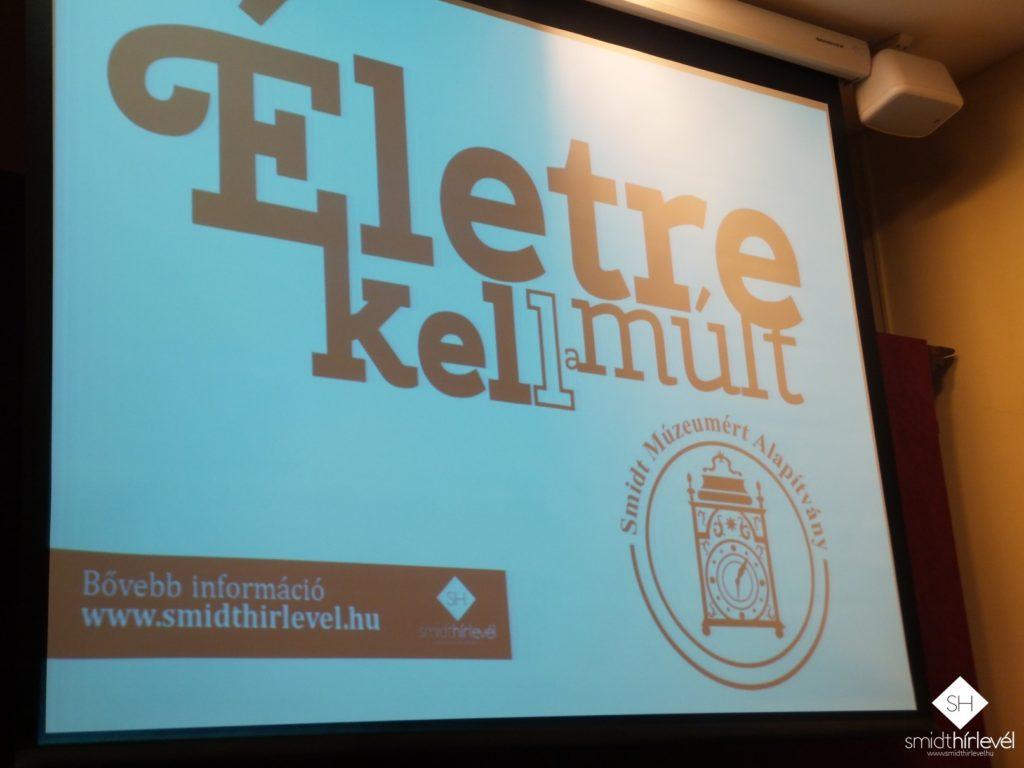 A délutáni program nyitányaként bemutatkozott a Smidt Múzeumért Alapítvány (Fotó: Smidt Hírlevél)