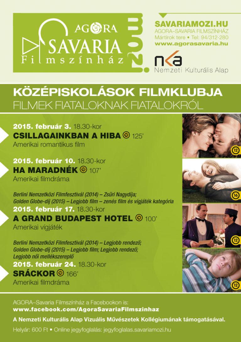 Tematikus programok az AGORA-Savaria Filmszínházban (2015. február)