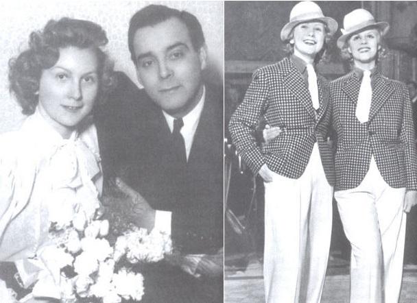 1. Komlóc Juci esküvőjén; 2. Fellépés a Moulin Rouge c. darabban (Forrás: forum.index.hu)