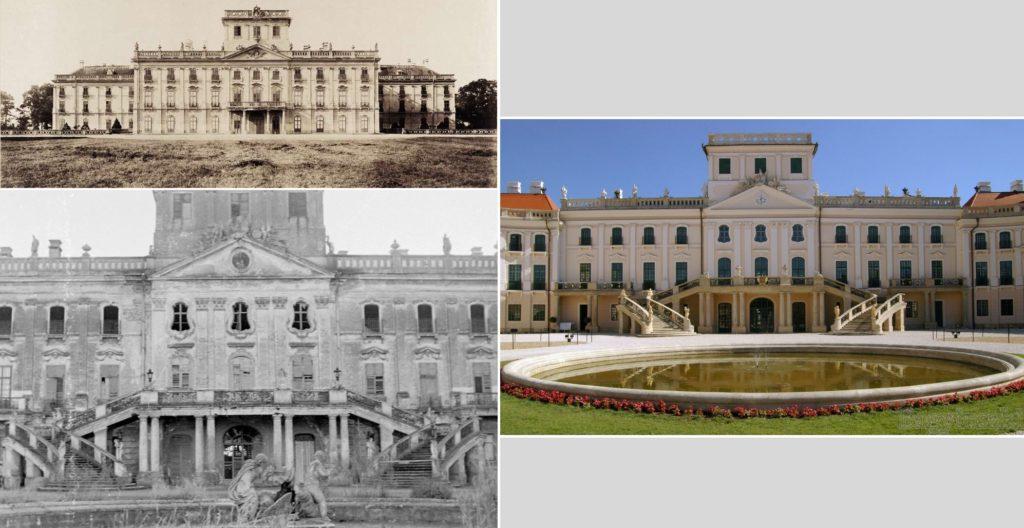 Fotó: Budapest Főváros Levéltára/Klosz György/Fortepan (1895,1899); korkep.sk (1952)