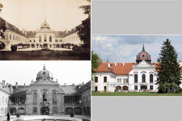 Fotó: Budapest Főváros Levéltára - Klosz György - Fortepan (1895/1899); Lechner Nonprofit Kft. - Váti Dokumentációs Központ (1980); kontraszt.godollo.hu