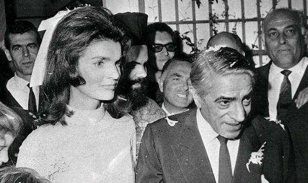 Jackie és Onassis esküvője (Fotó: blogs.artinfo.com)