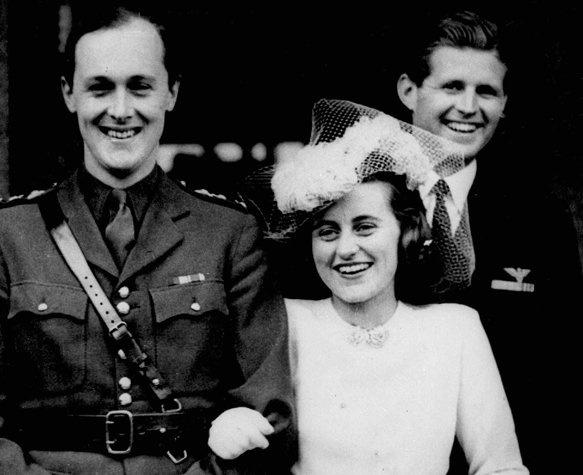 Kathleen esküvője 1944-ben (Fotó: Ann Koles/Pinterest)