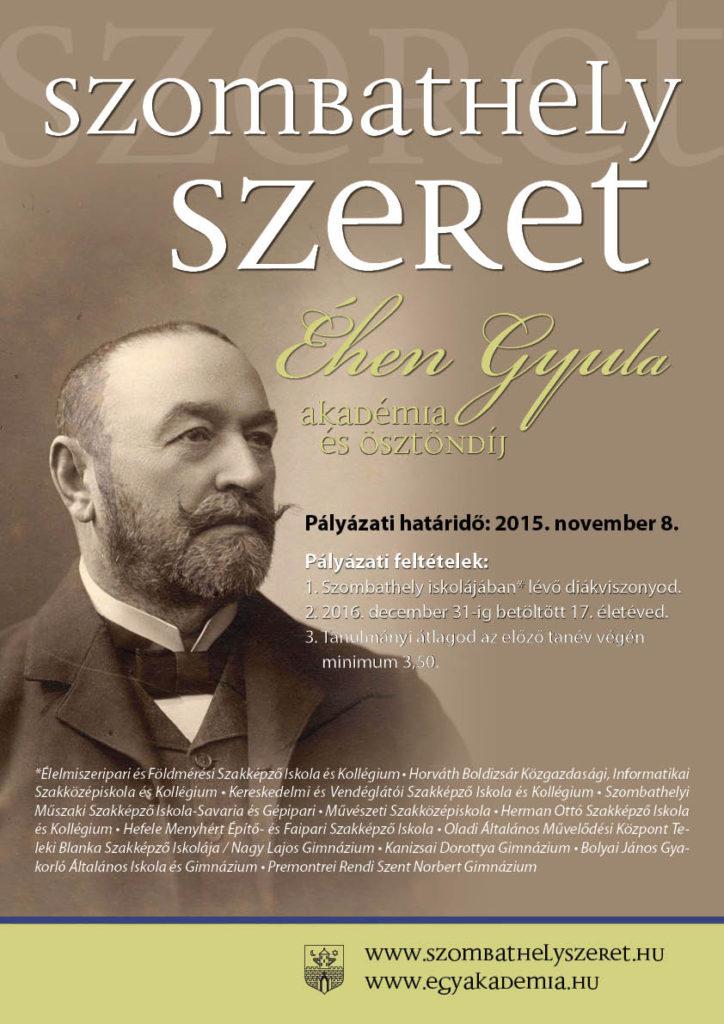 2015_Éhen_Gyula_Akadémia_és_Ösztöndíj_plakát