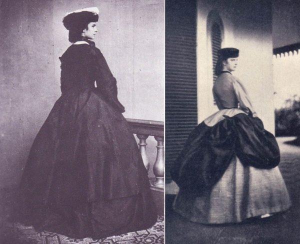 Két fotó a fiatal császárnéről 1858 körül. (Forrás: ChansLau People, Pola Argentum /Pinterest)