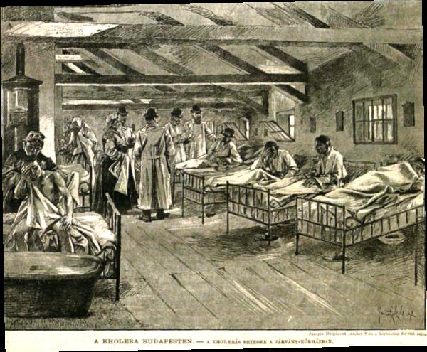 Képünk illusztráció. Markotányos utcai barakk-kórház, Budapest. (Forrás: Vasárnapi Ujság, 1892. / mindennapoktortenete.blog.hu)