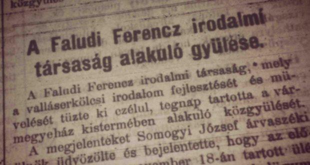 Részlet a Vasvármegye 1906. május 22-i számából
