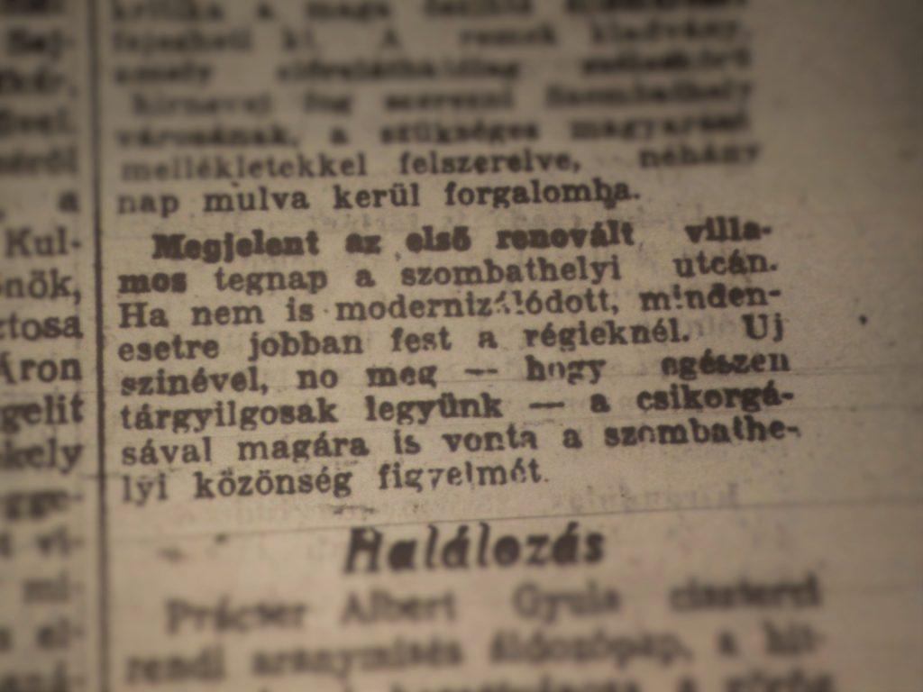 Forrás: Vasvármegye - 73. évfolyam, 144. sz., 5. old. (1940.06.27.)