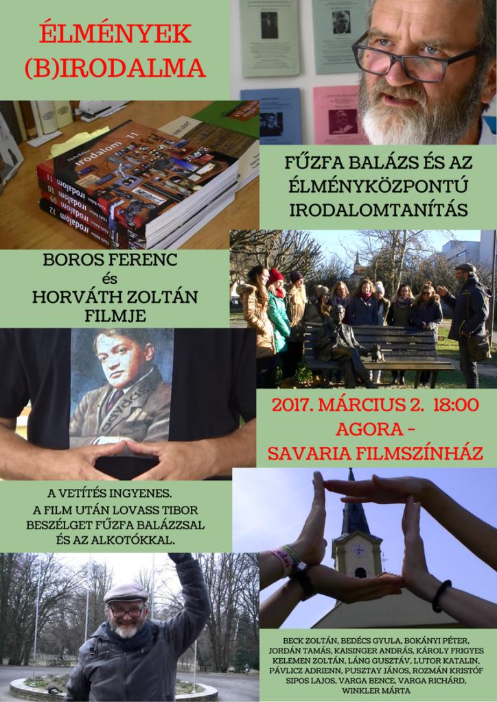 Fűzfa Balázs filmbemutató plakát