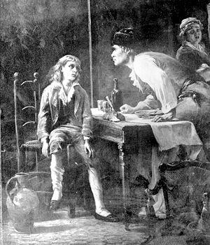 Lajos vallatása a börtönben (Forrás: www.annuaire-voyance-symphony.com)