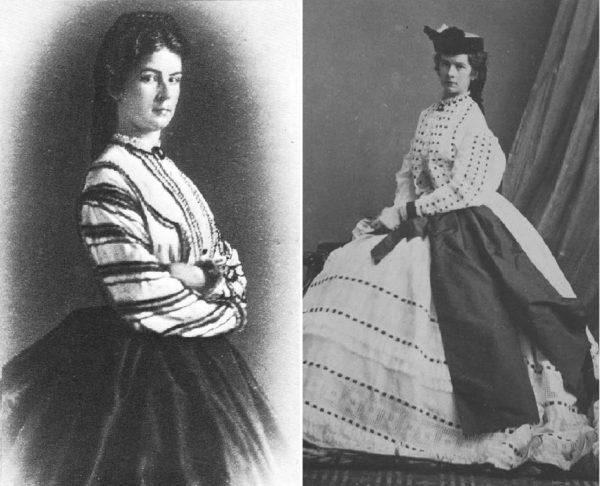 A császárné két fotón 1863-ban. (Forrás: Beate Brooks, ChansLau People/Pinterest)