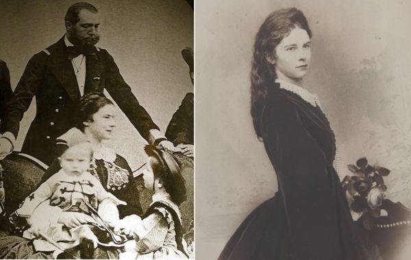Az egyetlen ismert fotó Sisiről a gyermekei körében, a második kép 1870 körül készült (Forrás: Dana DAgostini /Pinterest, Mivyrna Arano/Pinterest)